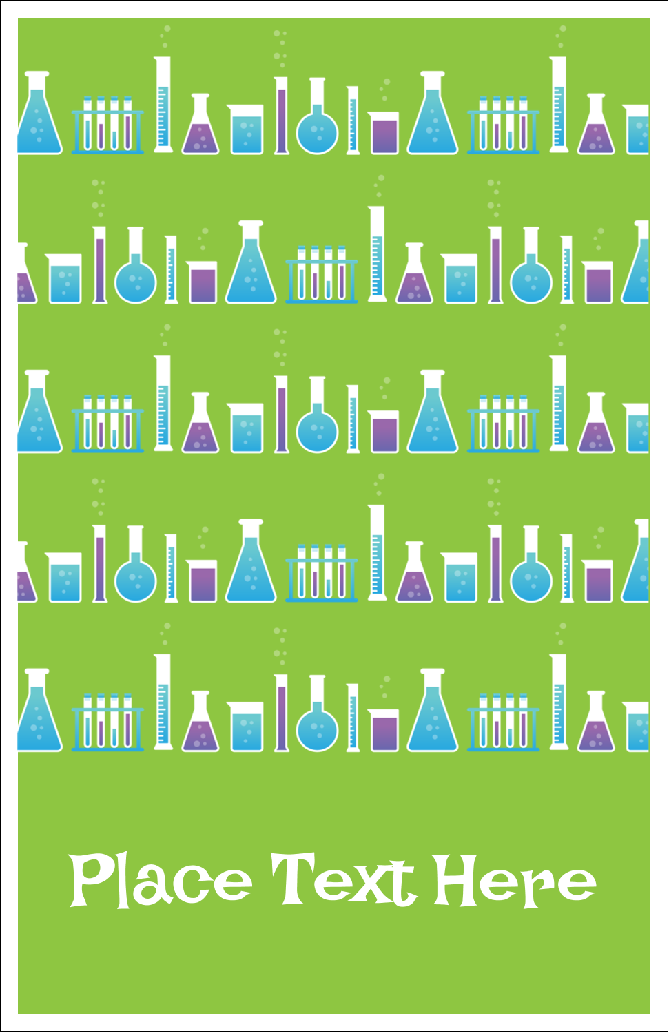 "5"" x 8½"" Half Fold Card - Mad Scientist Party"