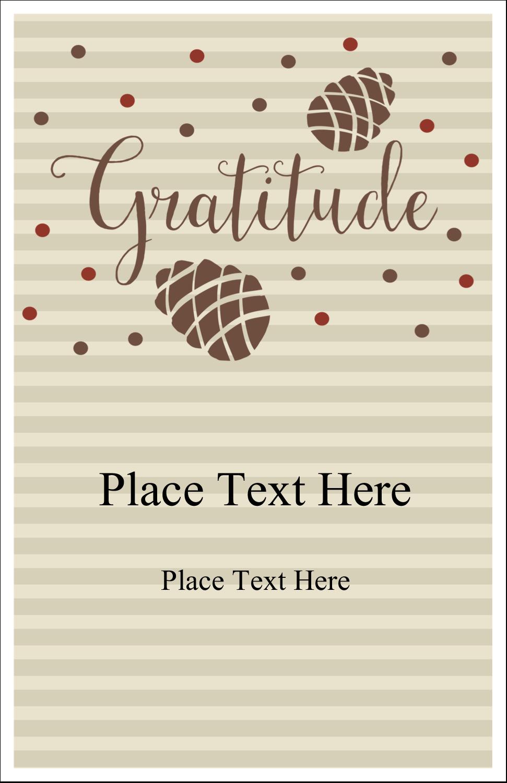 "5"" x 8½"" Half Fold Card - Thanksgiving Gratitude"