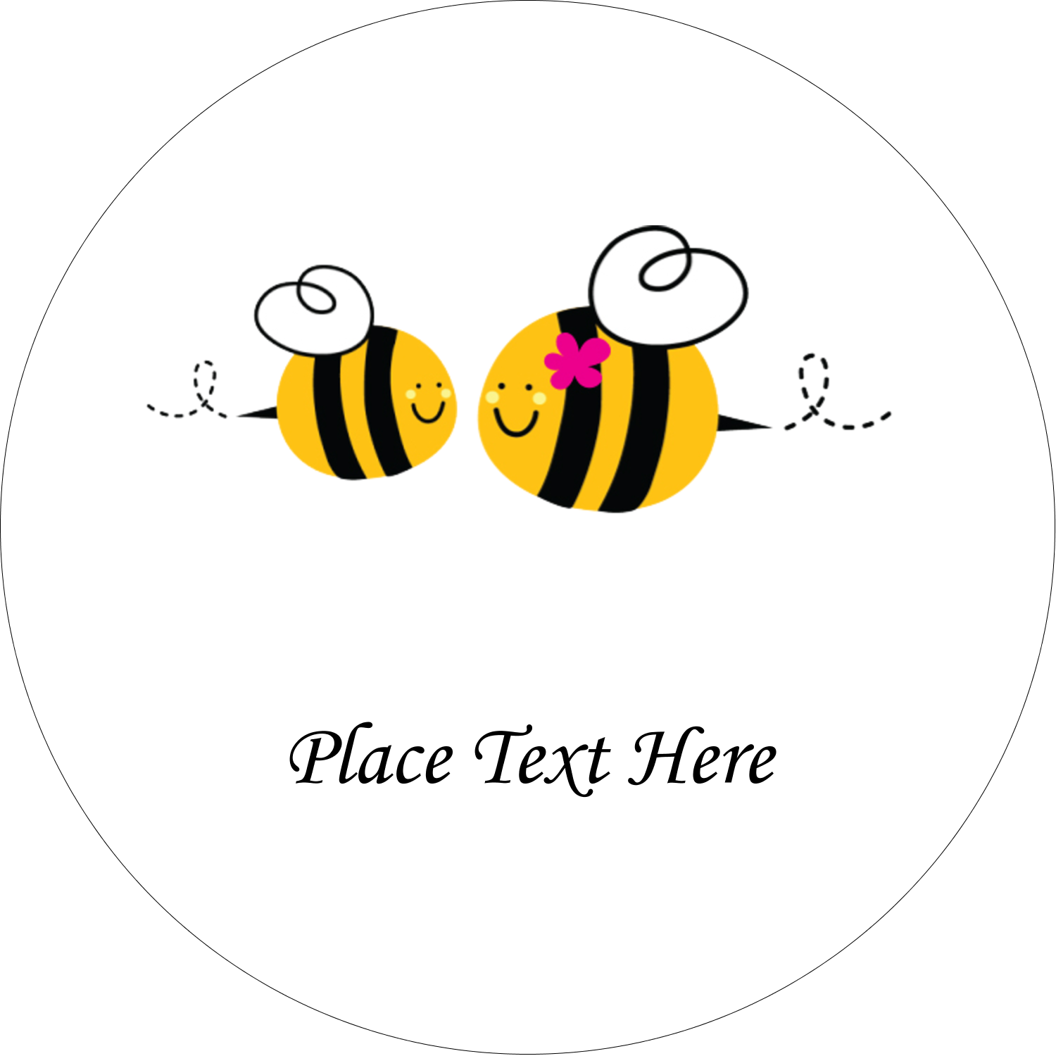"1½"" Round Label - Mother Bees"