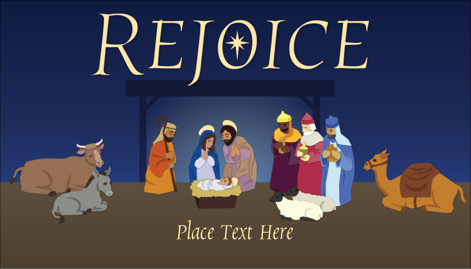 """2"""" x 3½"""" Business Card - The Nativity"""