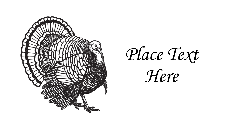 "2"" x 3½"" Business Card - Thanksgiving Vintage Turkey"