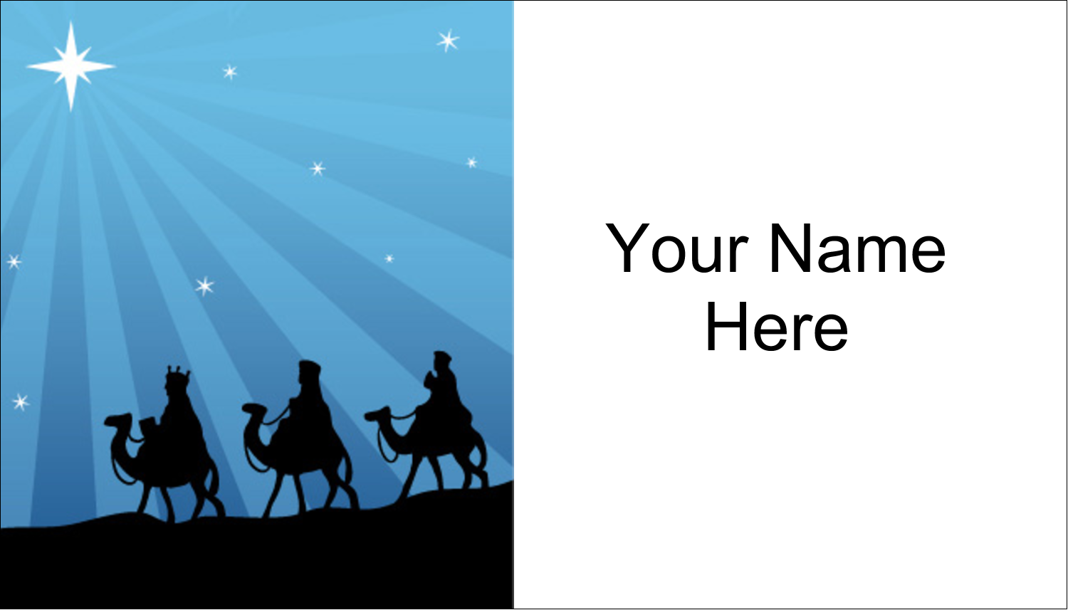 "2"" x 3½"" Business Card - Three Wise Men"