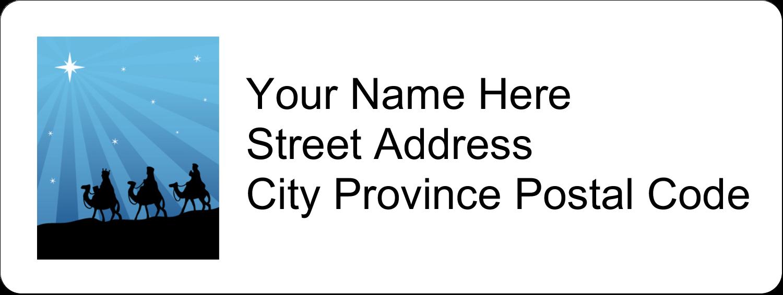 "⅔"" x 1¾"" Address Label - Three Wise Men"