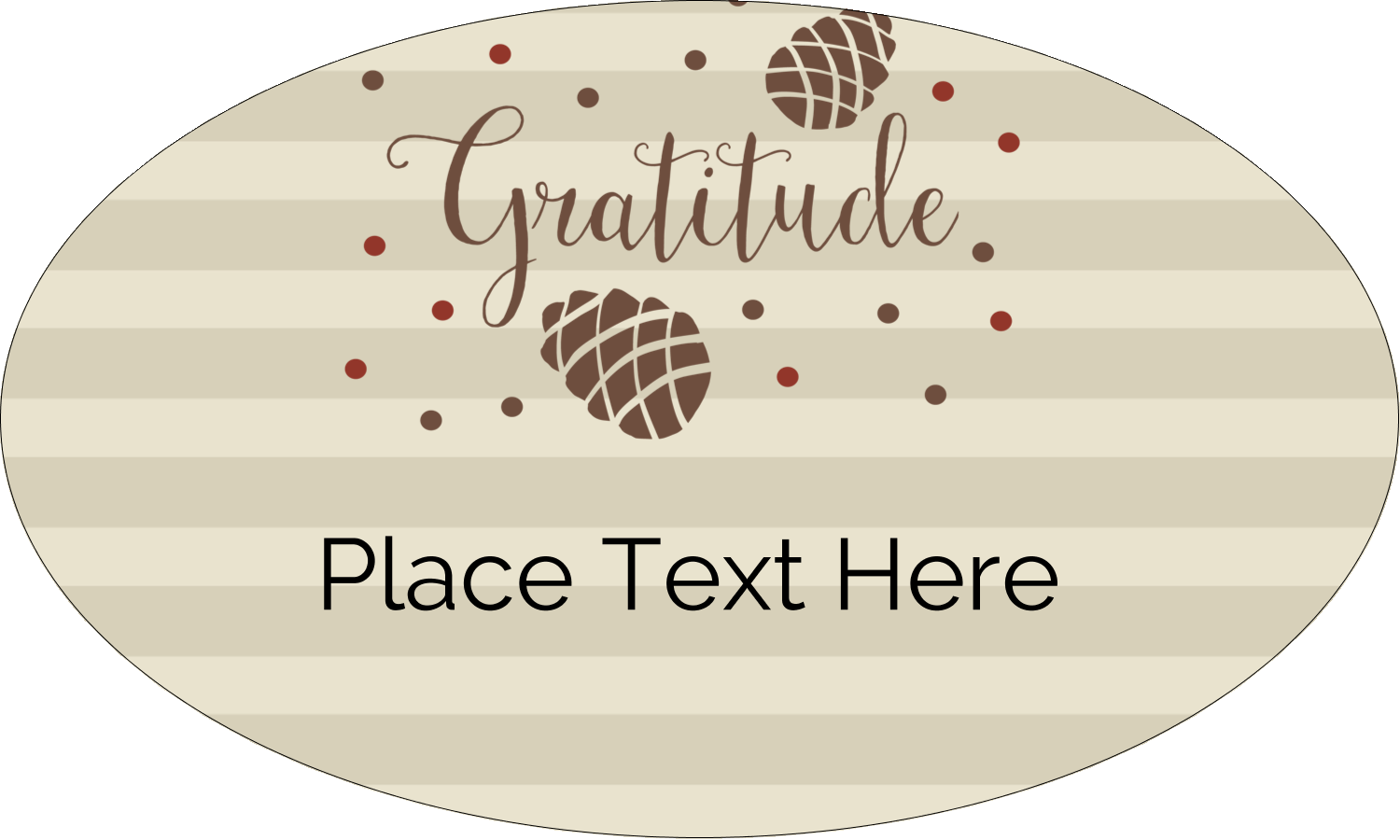 "1½"" x 2½"" Oval Glossy Label - Thanksgiving Gratitude"