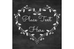 The writing is on the wall for Mom with this heart-shaped wreath drawn on a chalkboard.