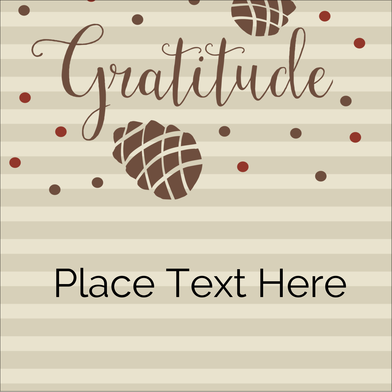 """1½"""" x 1½"""" Square Label - Thanksgiving Gratitude"""