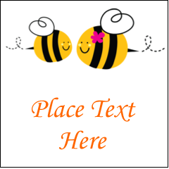 "2"" x 2"" Square Label - Mother Bees"