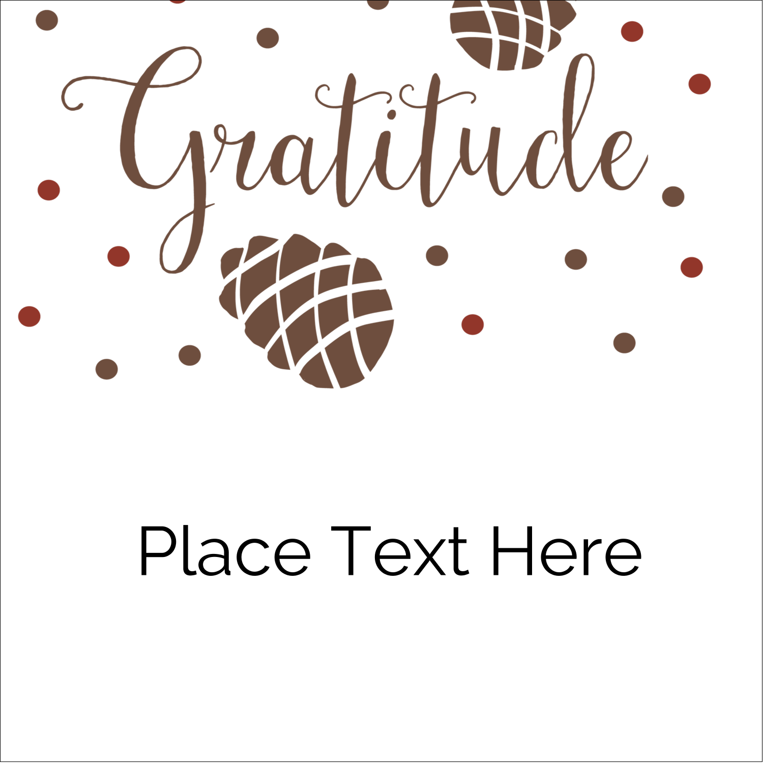 "2"" x 2"" Sqaure Label - Thanksgiving Gratitude"