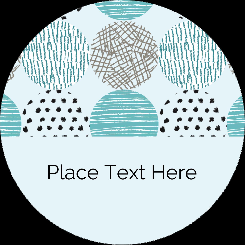 "2"" Round Label - Urban Circles Blue"