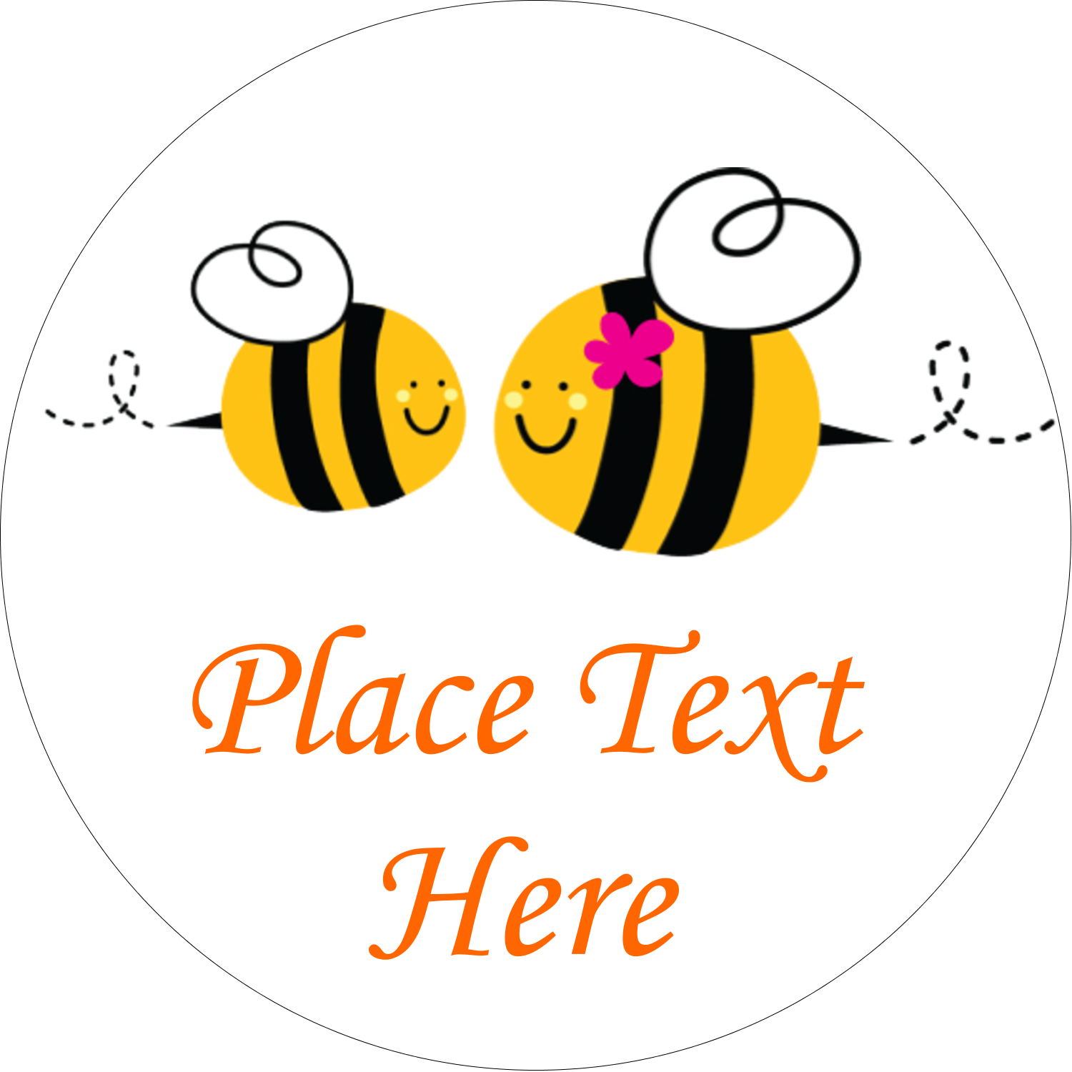 "2½"" Round Label - Mother Bees"
