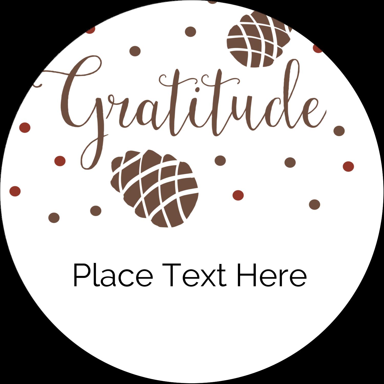 "2½"" Round Label - Thanksgiving Gratitude"