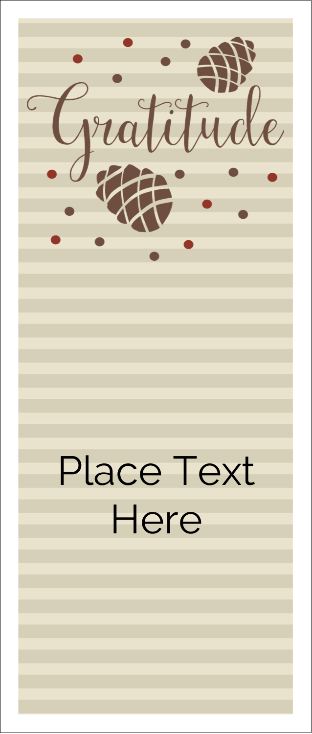 "1¾"" x 5½"" Printable Tickets - Thanksgiving Gratitude"