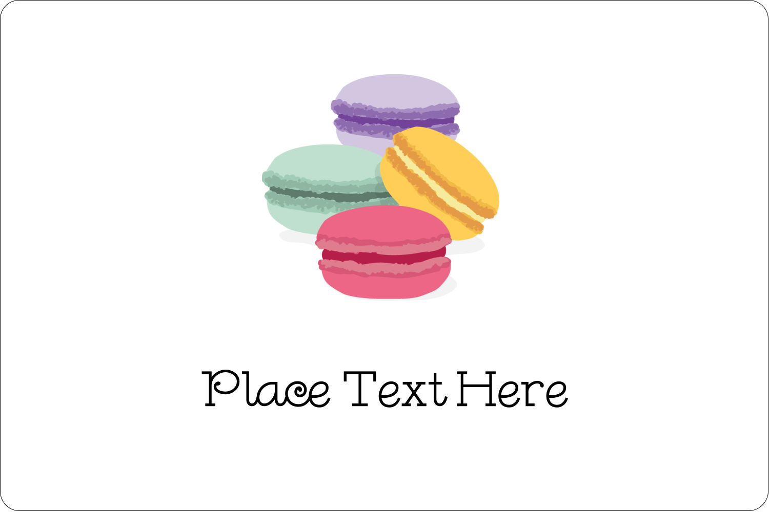 This is a graphic of Satisfactory Macaron Printable Template