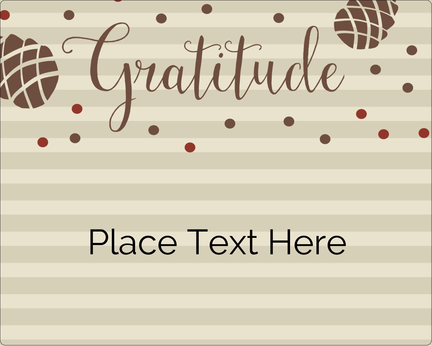 "3"" x 3¾"" Rectangular Label - Thanksgiving Gratitude"