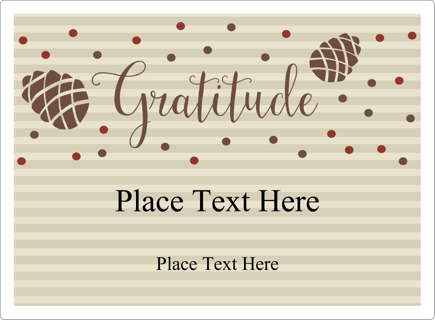 "3½"" x 4¾"" Rectangular Label - Thanksgiving Gratitude"