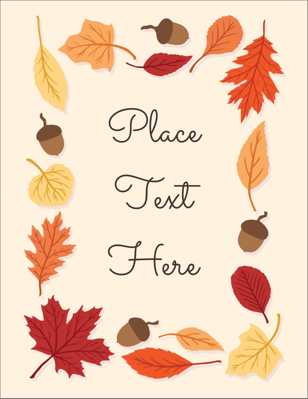 "4¼"" x 5½"" Postcard - Thanksgiving Leafy"