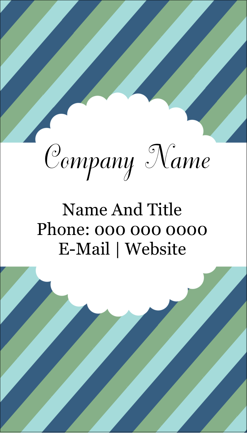 "3½"" x 2"" Business Card - Martha Stewart's Whimsical Wedding"