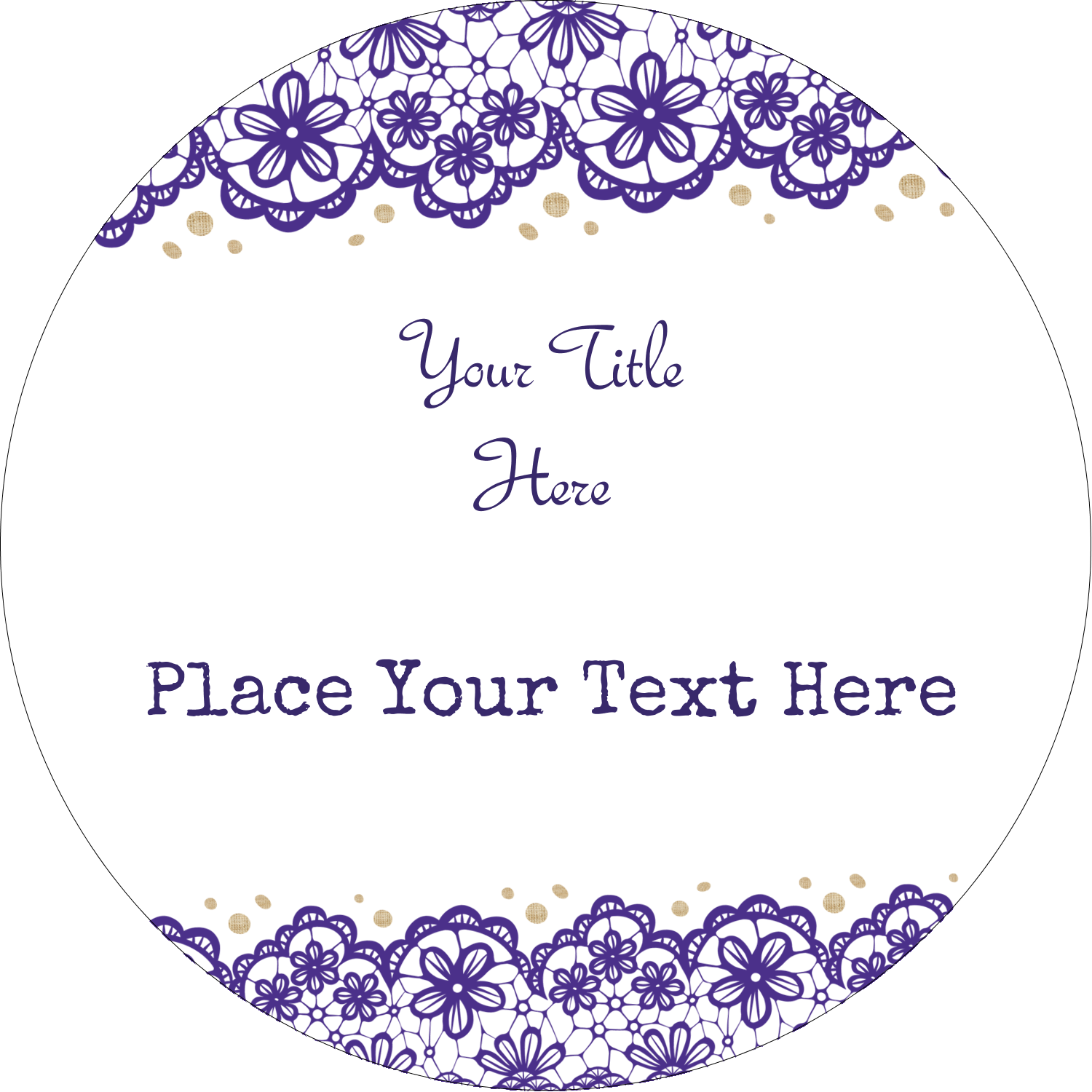 "8½"" x 11"" Presentation Binder - Purple Lace Wedding"
