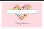 Cœurs et fleurs Cartes Et Articles D'Artisanat Imprimables - gabarit prédéfini. <br/>Utilisez notre logiciel Avery Design & Print Online pour personnaliser facilement la conception.