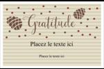 Gratitude Cartes Et Articles D'Artisanat Imprimables - gabarit prédéfini. <br/>Utilisez notre logiciel Avery Design & Print Online pour personnaliser facilement la conception.