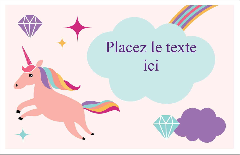 """8½"""" x 11"""" Cartes Et Articles D'Artisanat Imprimables - Licorne en fête"""