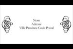 Monogramme 2 Étiquettes Thermiques - gabarit prédéfini. <br/>Utilisez notre logiciel Avery Design & Print Online pour personnaliser facilement la conception.