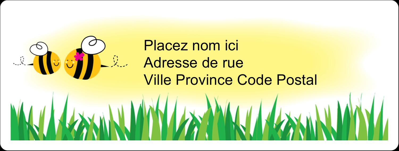 """1"""" x 2⅝"""" Étiquettes d'adresse - Maman abeille"""