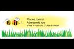 Maman abeille Étiquettes d'adresse - gabarit prédéfini. <br/>Utilisez notre logiciel Avery Design & Print Online pour personnaliser facilement la conception.