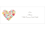 Cœurs et fleurs Étiquettes d'adresse - gabarit prédéfini. <br/>Utilisez notre logiciel Avery Design & Print Online pour personnaliser facilement la conception.