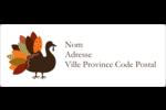 Feuilles et dinde Étiquettes d'adresse - gabarit prédéfini. <br/>Utilisez notre logiciel Avery Design & Print Online pour personnaliser facilement la conception.