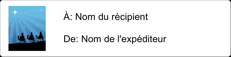 """1⅓"""" x 4"""" Étiquettes d'adresse - Trois rois mages"""