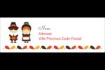 Pèlerins de l'Action de grâce Intercalaires / Onglets - gabarit prédéfini. <br/>Utilisez notre logiciel Avery Design & Print Online pour personnaliser facilement la conception.