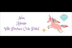 Licorne en fête Intercalaires / Onglets - gabarit prédéfini. <br/>Utilisez notre logiciel Avery Design & Print Online pour personnaliser facilement la conception.