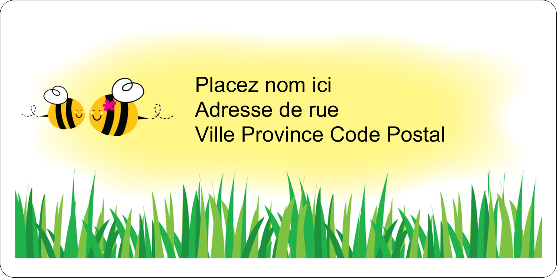 """2"""" x 4"""" Étiquettes d'expédition - Maman abeille"""