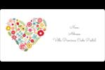 Cœurs et fleurs Étiquettes de classement écologiques - gabarit prédéfini. <br/>Utilisez notre logiciel Avery Design & Print Online pour personnaliser facilement la conception.