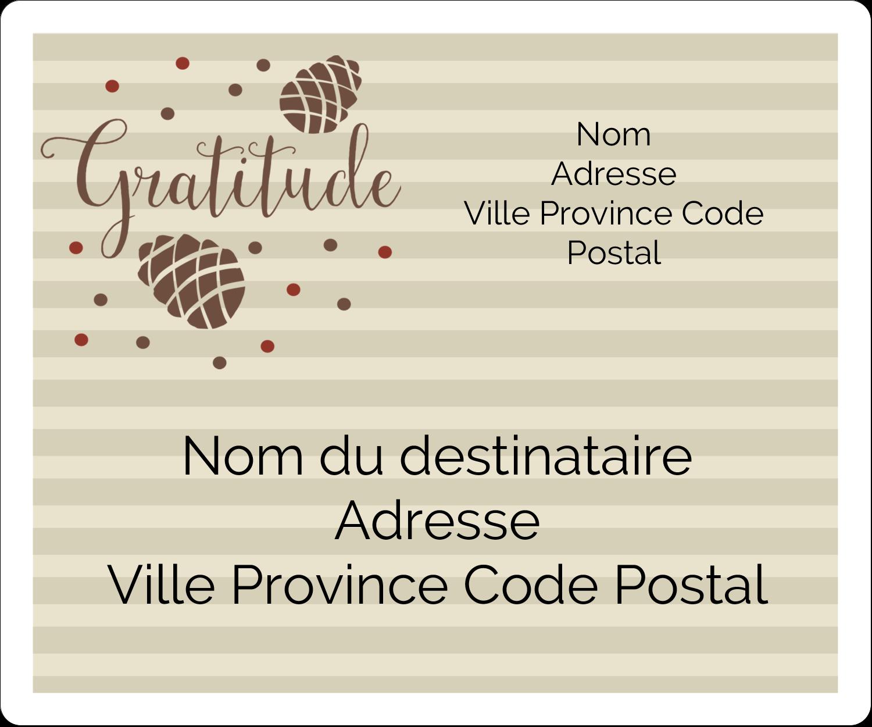 """½"""" x 1¾"""" Étiquettes D'Adresse - Gratitude"""