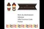 Pèlerins de l'Action de grâce Étiquettes D'Adresse - gabarit prédéfini. <br/>Utilisez notre logiciel Avery Design & Print Online pour personnaliser facilement la conception.