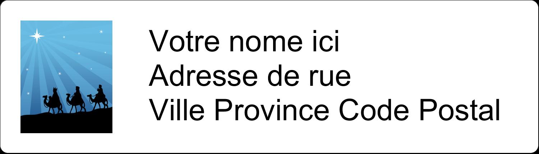 """1"""" x 2⅝"""" Étiquettes D'Adresse - Trois rois mages"""