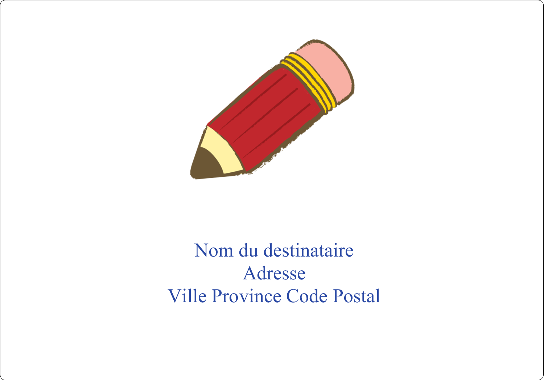 """3½"""" x 5"""" Étiquettes d'expéditions - Bleu plage"""