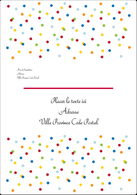 """3½"""" x 5"""" Étiquettes d'expéditions - Confettis d'anniversaire"""