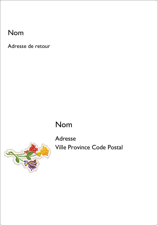 """3½"""" x 5"""" Étiquettes d'expéditions - Trois fleurs"""