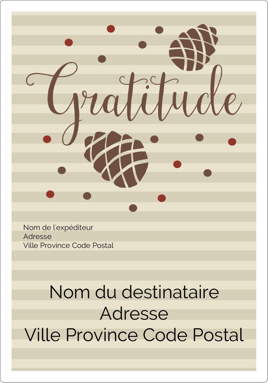 """⅔"""" x 1¾"""" Étiquettes D'Adresse - Gratitude"""