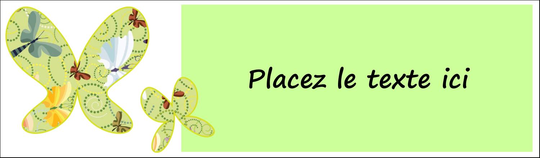 """2½"""" x 8½"""" Affichette - Deux papillons"""