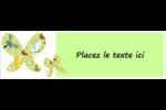 Deux papillons Affichette - gabarit prédéfini. <br/>Utilisez notre logiciel Avery Design & Print Online pour personnaliser facilement la conception.