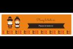 Pèlerins de l'Action de grâce Carte de note - gabarit prédéfini. <br/>Utilisez notre logiciel Avery Design & Print Online pour personnaliser facilement la conception.