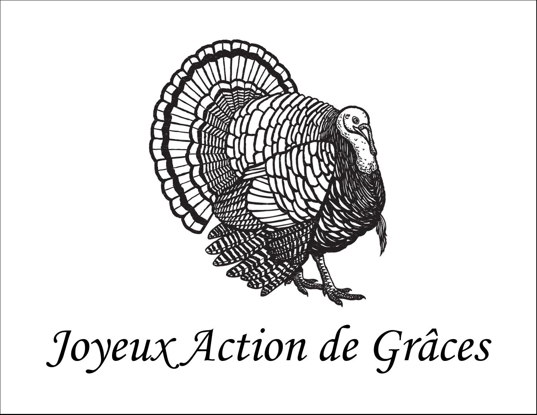 """8½"""" x 11"""" Cartes Et Articles D'Artisanat Imprimables - Dinde traditionnelle de l'Action de grâces"""
