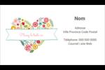 Cœurs et fleurs Carte d'affaire - gabarit prédéfini. <br/>Utilisez notre logiciel Avery Design & Print Online pour personnaliser facilement la conception.