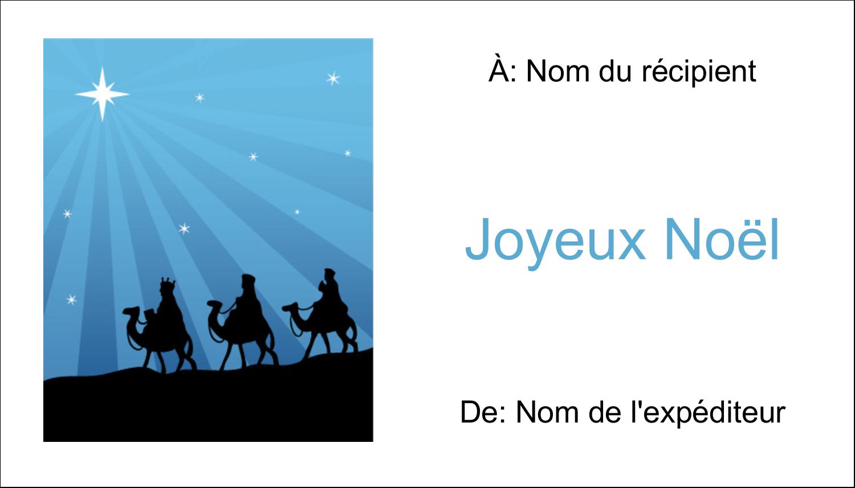 """2"""" x 3½"""" Carte d'affaire - Trois rois mages"""