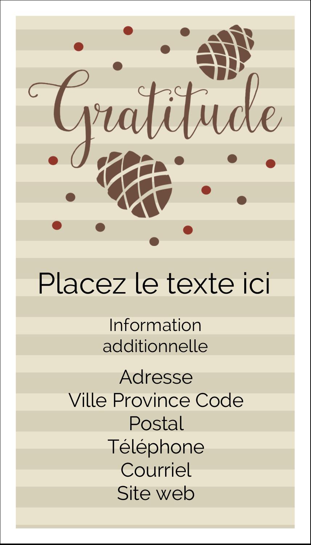 """2"""" x 3½"""" Carte d'affaire - Gratitude"""