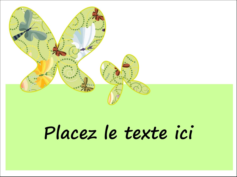 """3"""" x 4"""" Étiquettes badges autocollants - Deux papillons"""